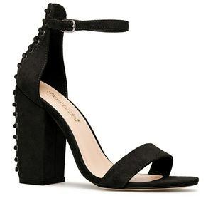 Lace up Block Sandal